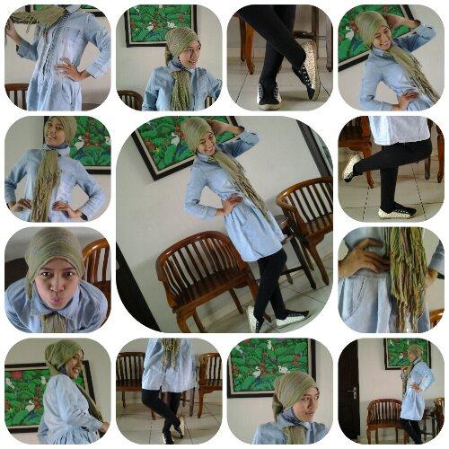 tutorial cara hijab shawl dengan pashmina